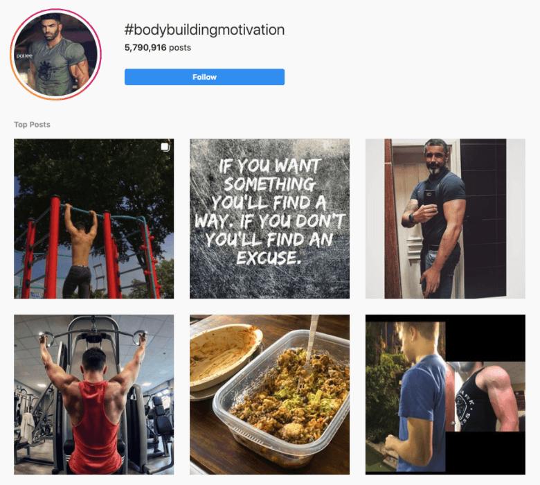 #Bodybuildingmotivation Hashtag Captura de pantalla