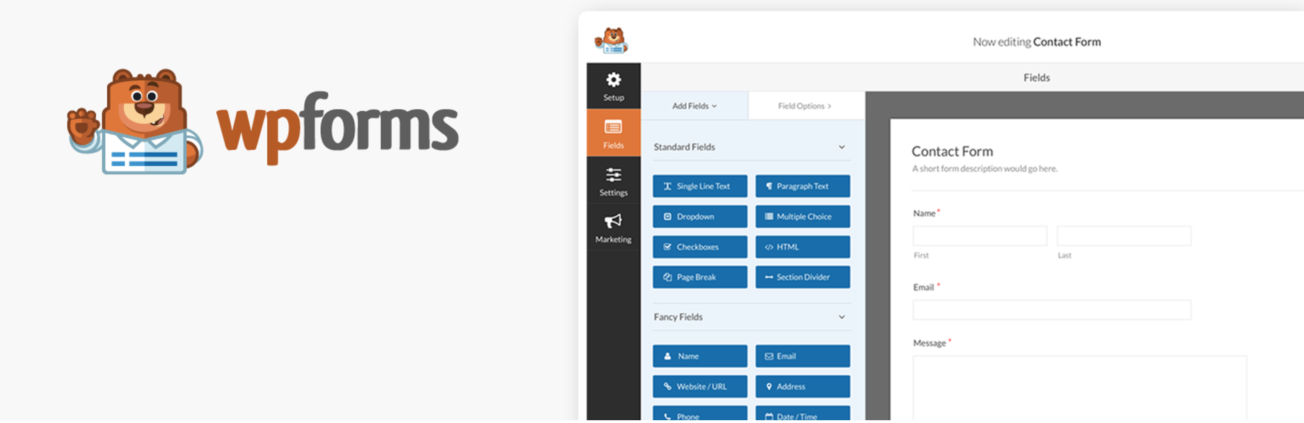 Complemento de WordPress WPForms