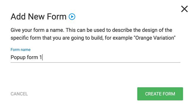 Dale un nombre a tu formulario