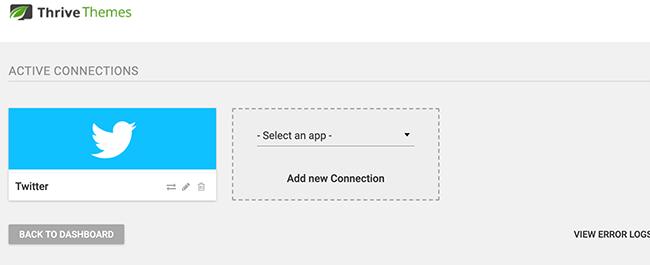 Seleccione una nueva conexión de la lista desplegable