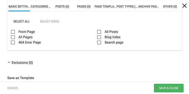 Ajusta dónde se muestran tus formularios