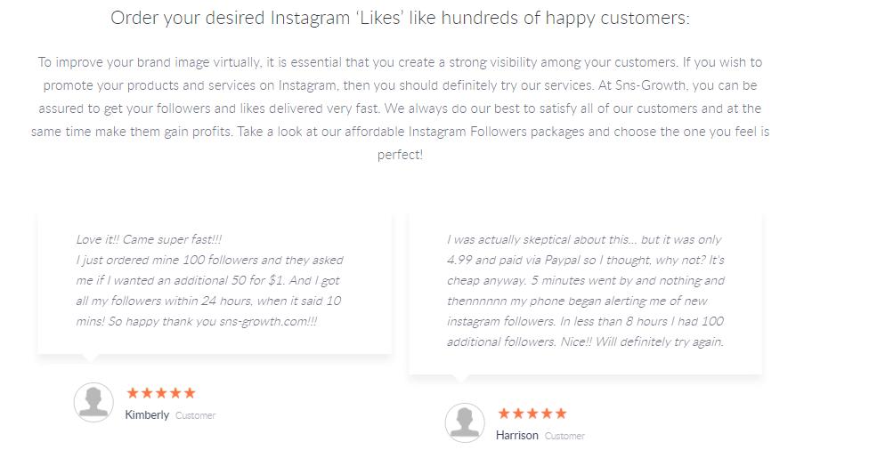 Una captura de pantalla que muestra las reseñas en el sitio.
