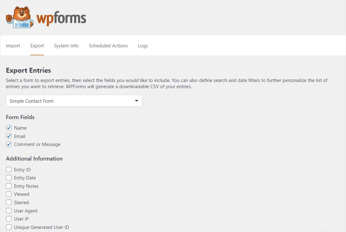entradas de formulario de wordpress para sobresalir