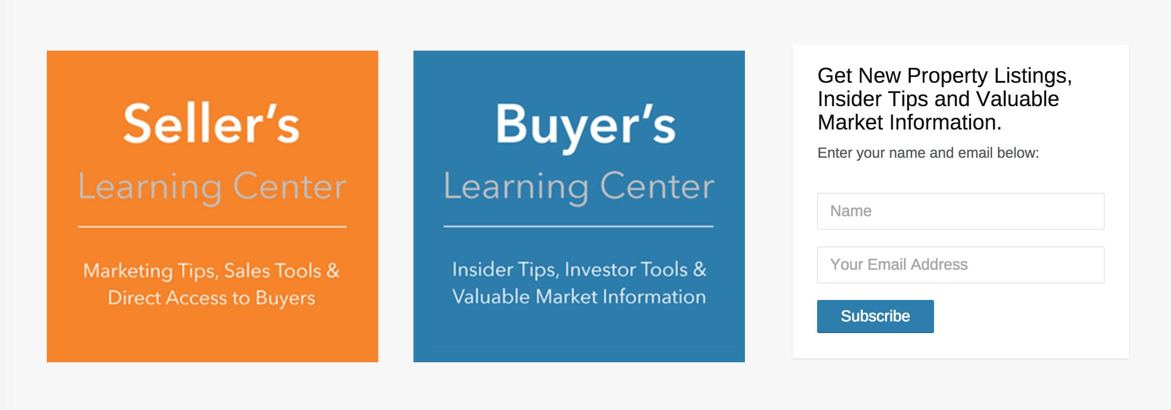 7. Centros de aprendizaje para compradores y vendedores
