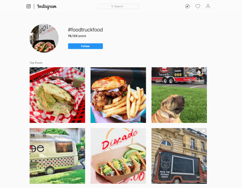 hashtags de comida