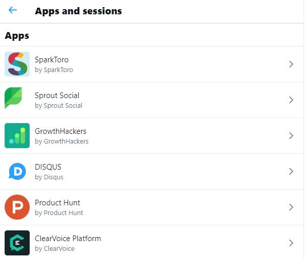 Puede verificar las aplicaciones de terceros conectadas a su Twitter aplicación para evitar hacks