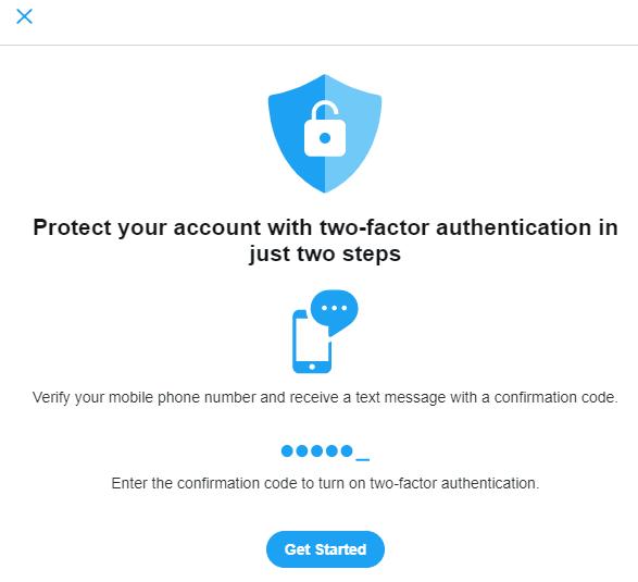 Twitter  La autenticación de dos factores puede ayudar a evitar futuros ataques.