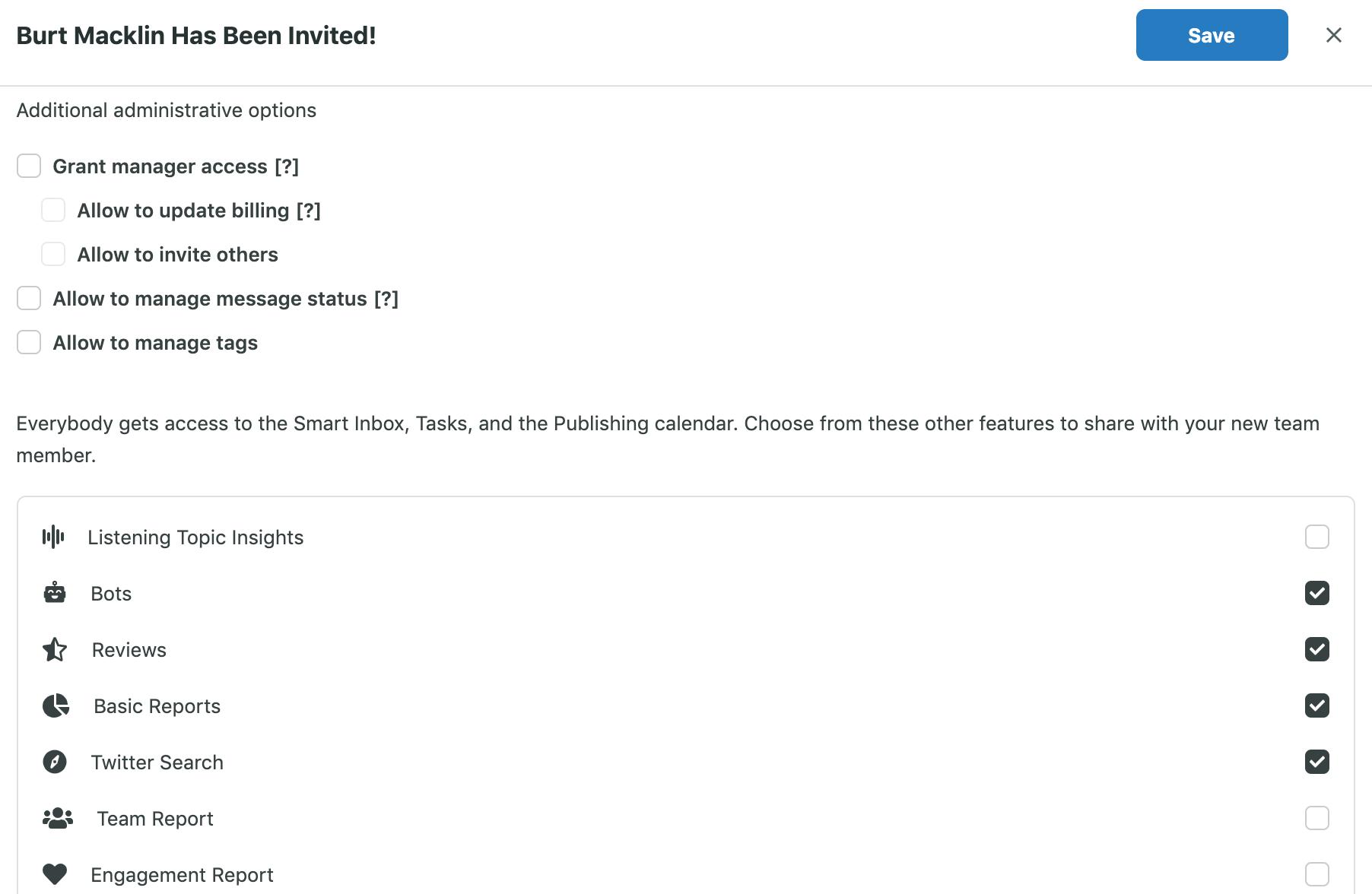 limitar los permisos a los usuarios en sus cuentas en plataformas como Sprout Social puede ayudarlo a evitar un pirateo Twitter cuenta