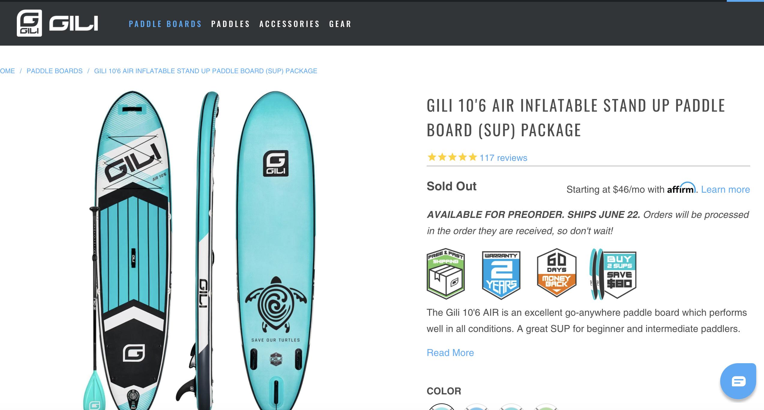 tablas de paddle surf gili