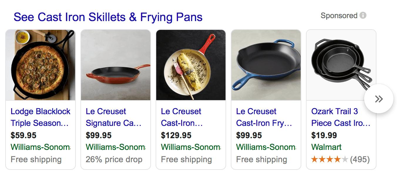 Imagen de anuncios de Shopping de anuncios de Google