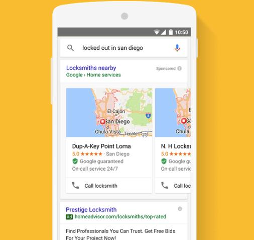 Imagen de búsquedas locales de anuncios de Google
