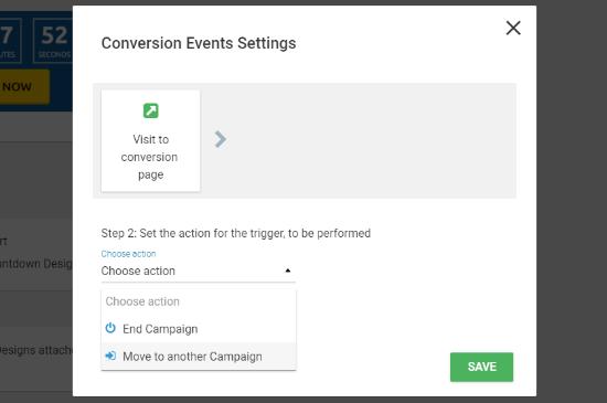 Configuración de eventos de conversión