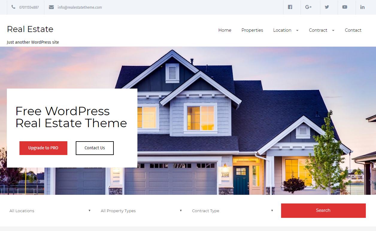 Real Estate Lite - Tema WP de propiedades de alquiler de viviendas