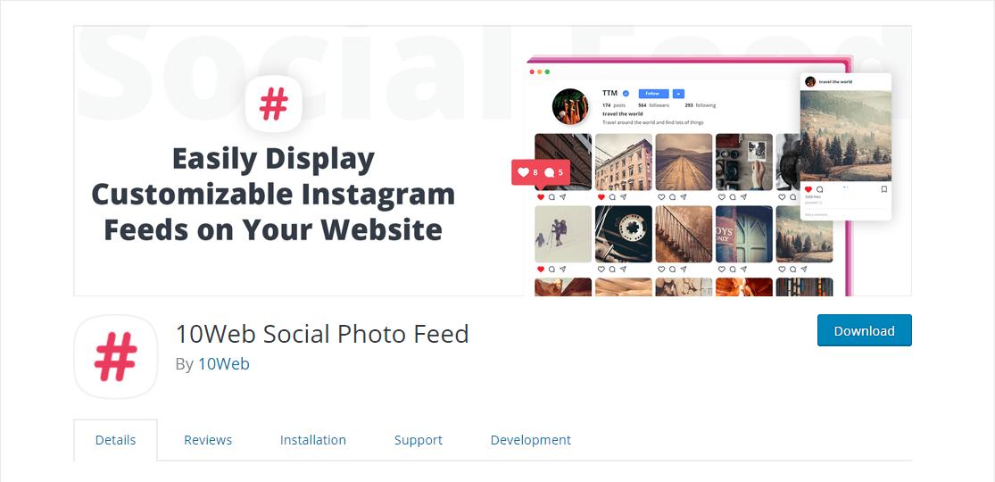 complemento de instagram de wordpress de alimentación de fotos sociales