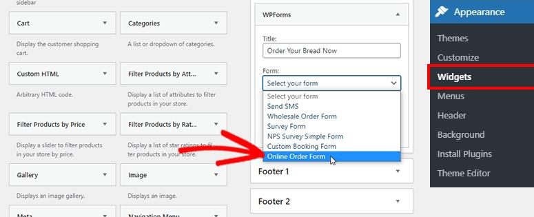 Agregar widget de formulario