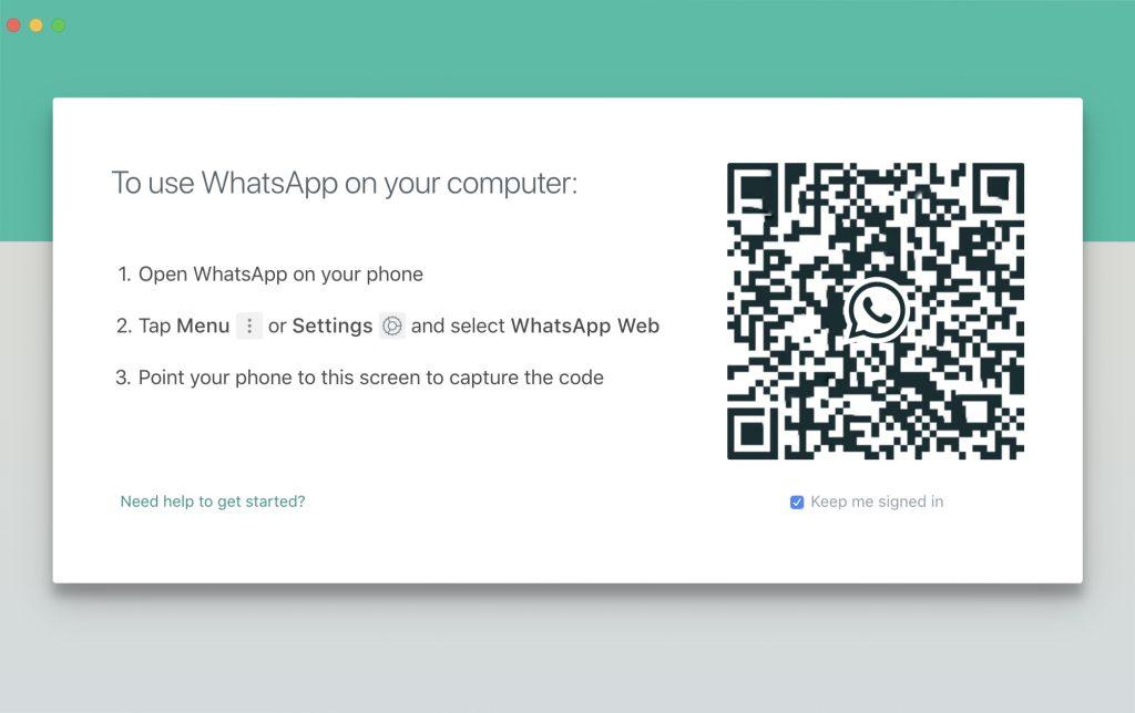 Escanear el código QR de escritorio de WhatsApp