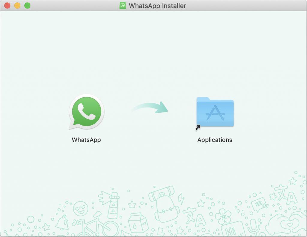 Arrastra WhatsApp a la carpeta Aplicaciones