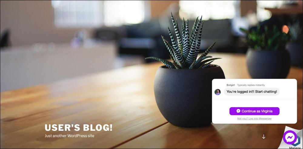 WP-Chatbot de MobileMonkey Widget