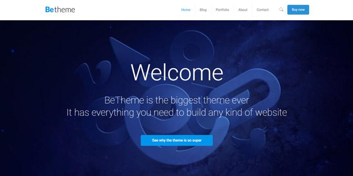 Tema de BeTheme para WordPress