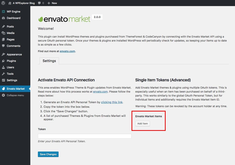 Autorización de token de Envato de un solo uso