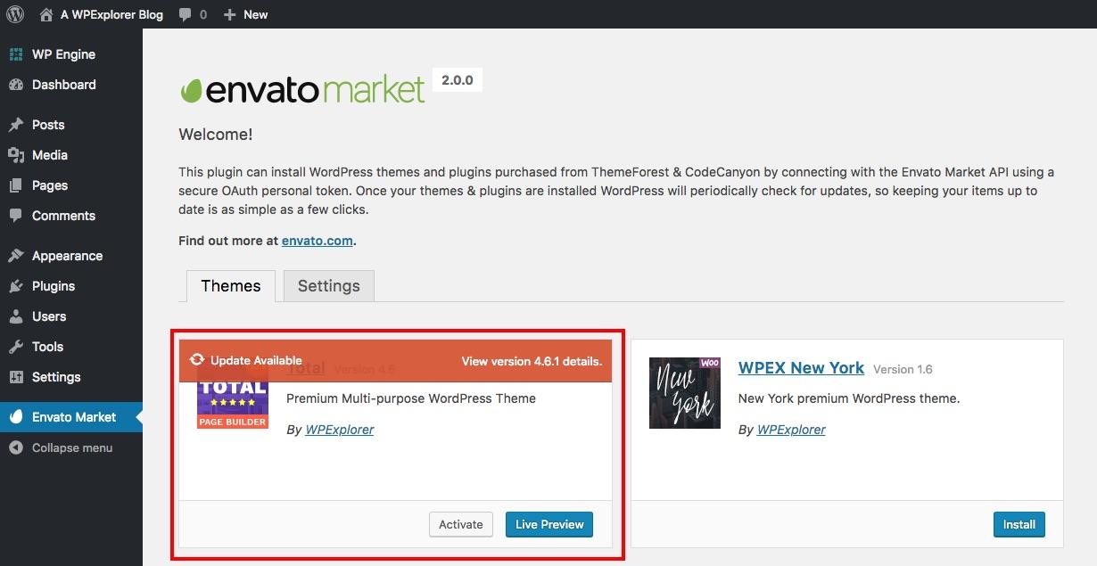Actualizaciones de artículos de Envato Market
