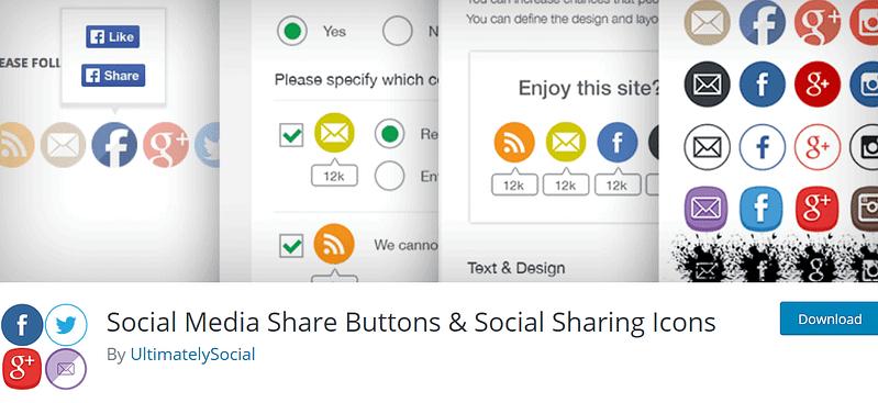 Botones para compartir en redes sociales