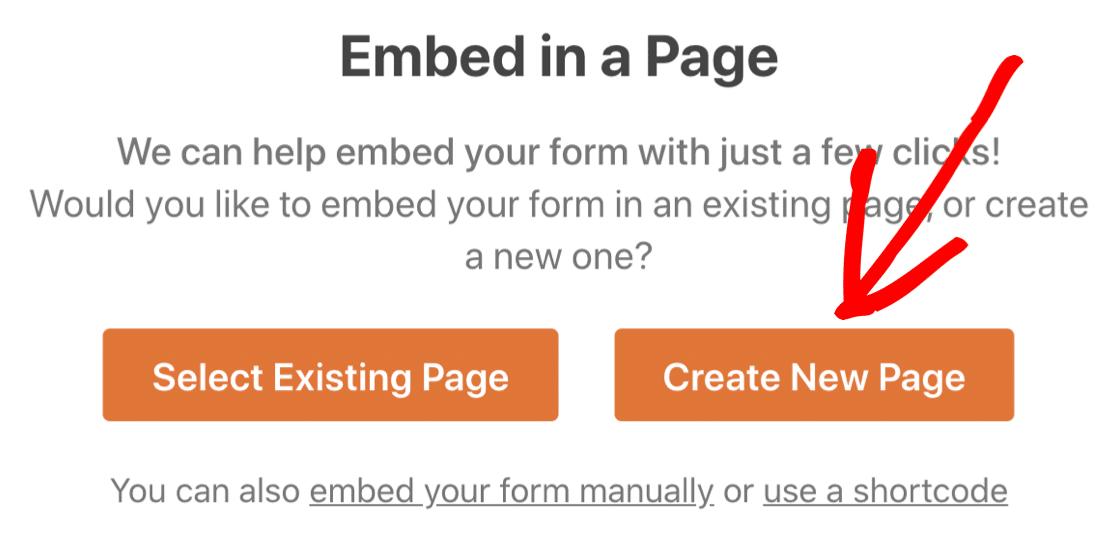 Cree una página de compromiso en línea