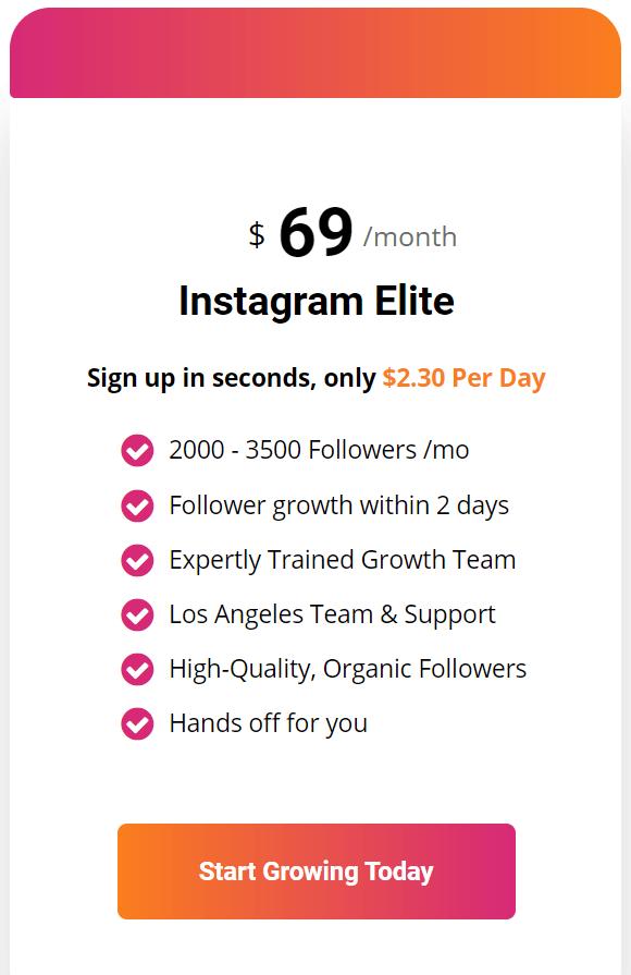 una captura de pantalla que muestra el plan de precios Elite de Path Social
