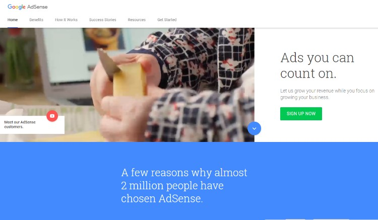 Google Adsense para agregar anuncios de contenido en línea a WordPress