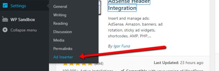 Colocación de anuncios de contenido en línea en WordPress