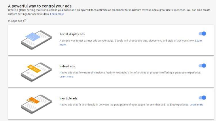 Formatos de Google Adsense