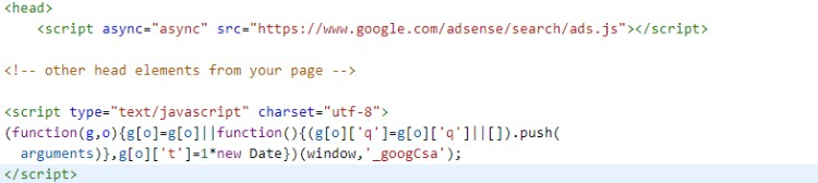 Copiar código de Adsense