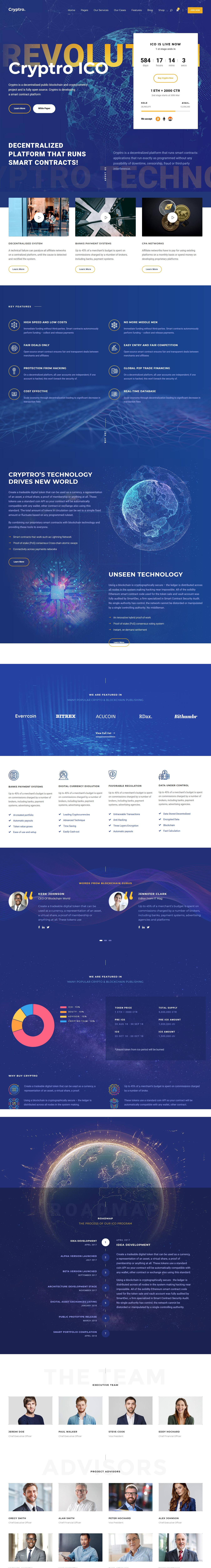 Cryptro: el mejor tema de WordPress para criptomonedas premium