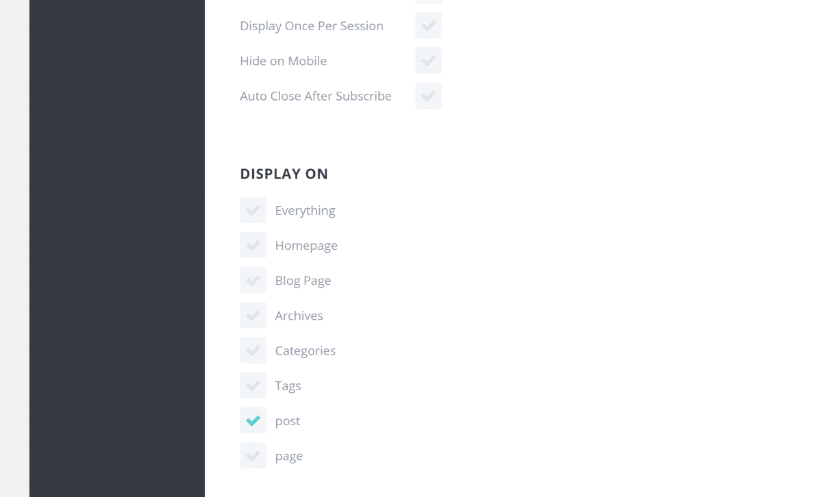 opciones de pantalla