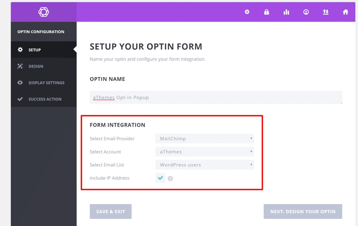 Crear nuevo formulario de suscripción