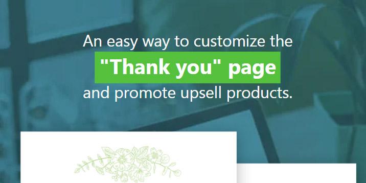 Página de agradecimiento personalizada