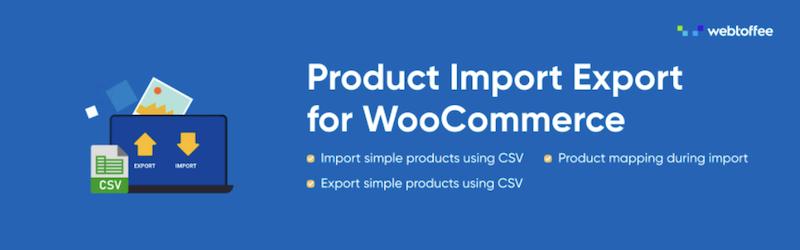 Complemento de importación y exportación de productos para WooCommerce