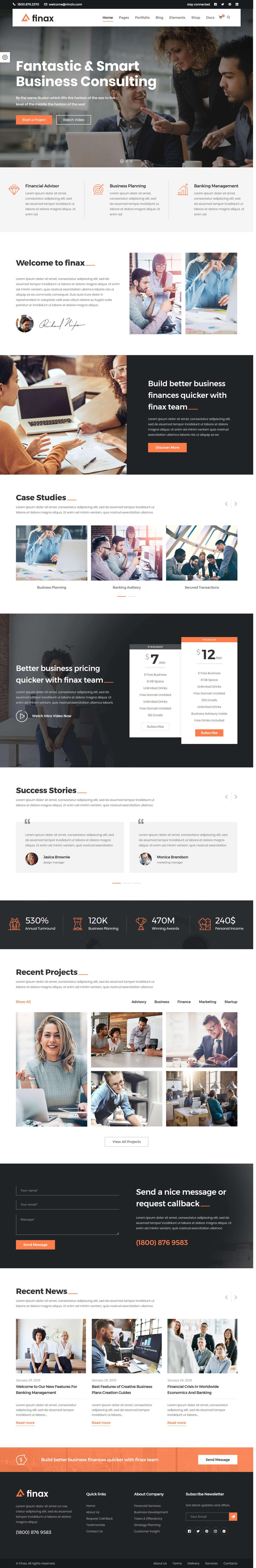 Finax: el mejor tema premium de WordPress para arrastrar y soltar