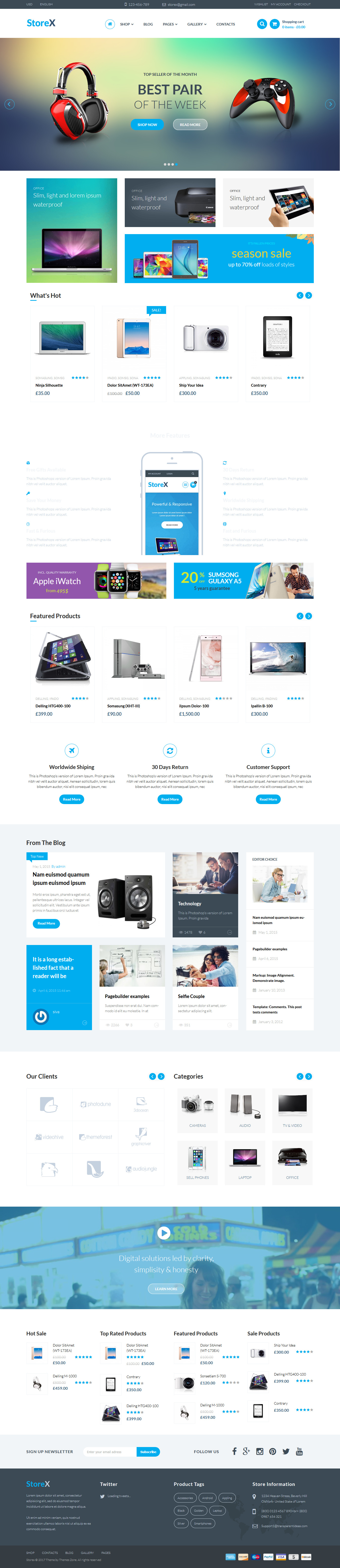 StoreX: el mejor tema premium de WordPress para arrastrar y soltar