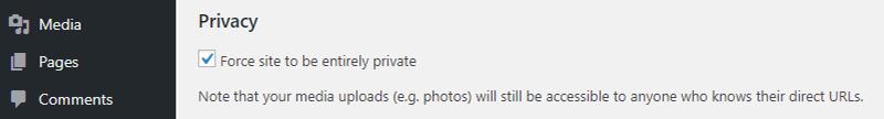 Privacidad de intranet todo en uno