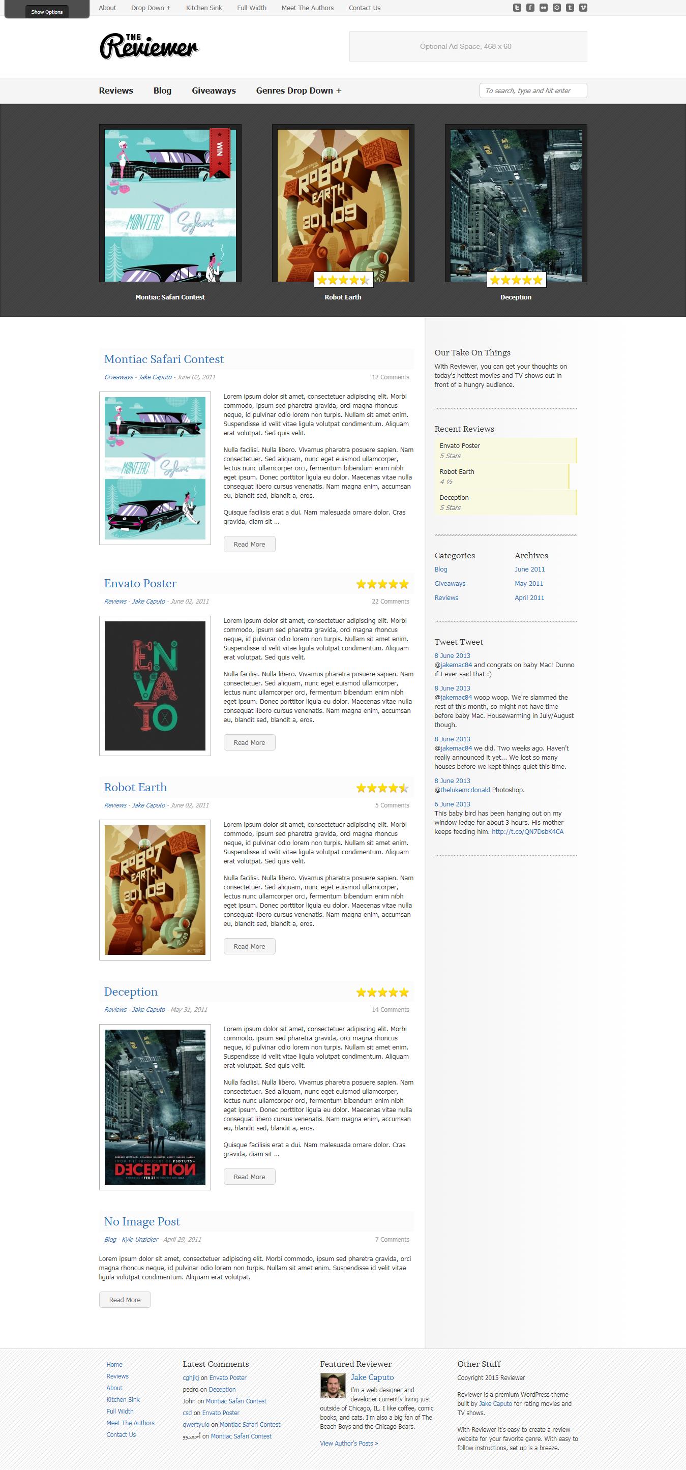 Revisor - Mejor tema de WordPress de revisión premium