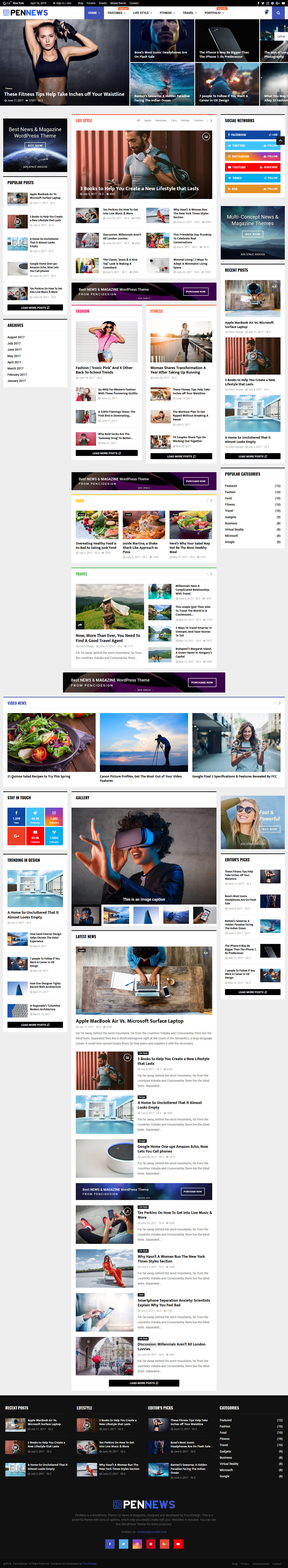 PenNews - Mejor tema de WordPress de revisión premium