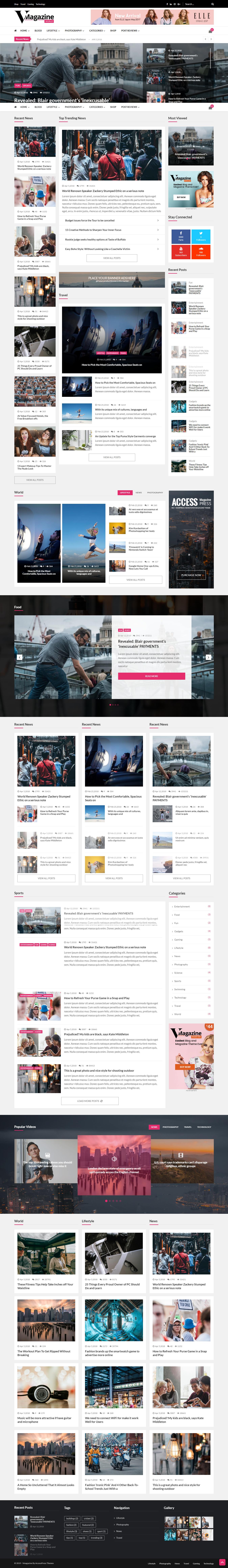 VMagazine - Mejor tema de WordPress de revisión premium
