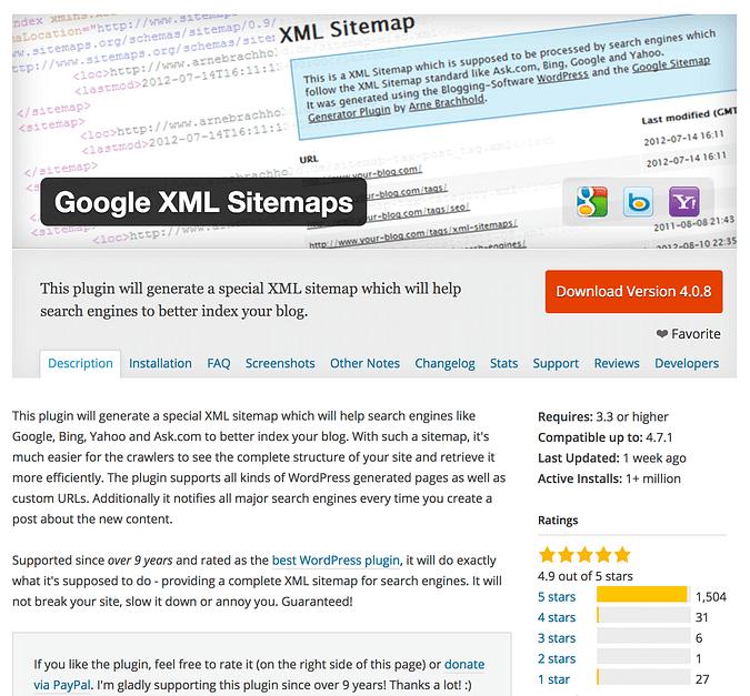 Sitemaps XML de Google