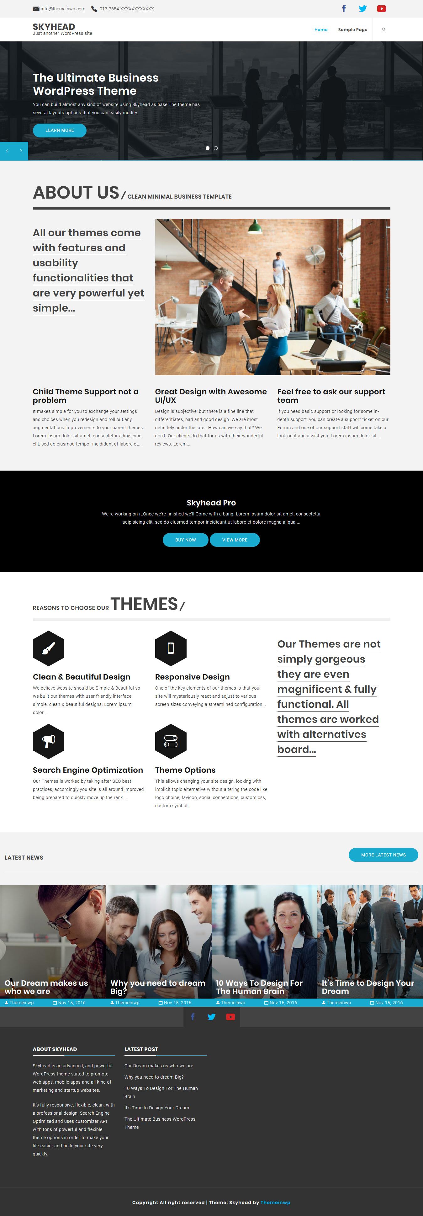 Skyhead: el mejor tema de WordPress para aplicaciones móviles gratuitas