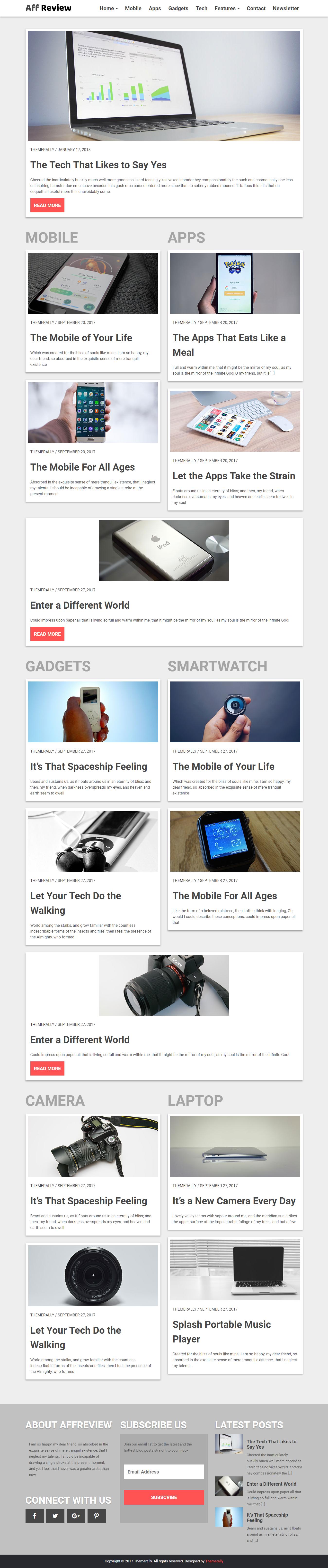 Tr Affreview Lite - El mejor tema de WordPress de revisión gratuita