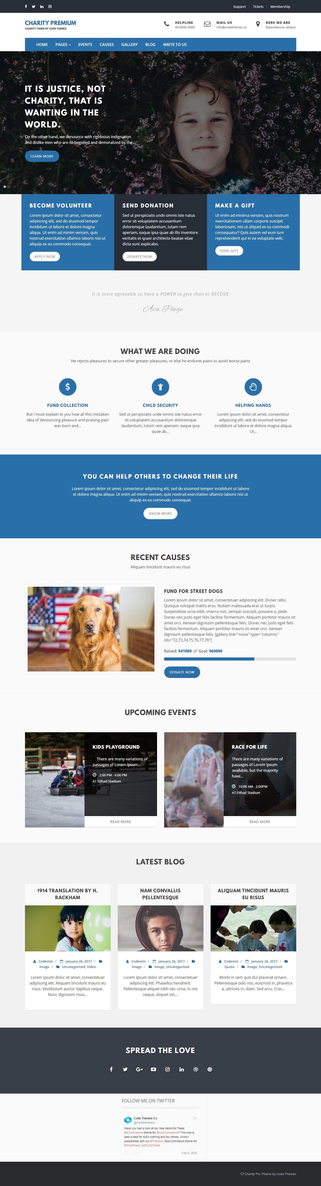 Charity Review: el mejor tema de WordPress de revisión gratuita