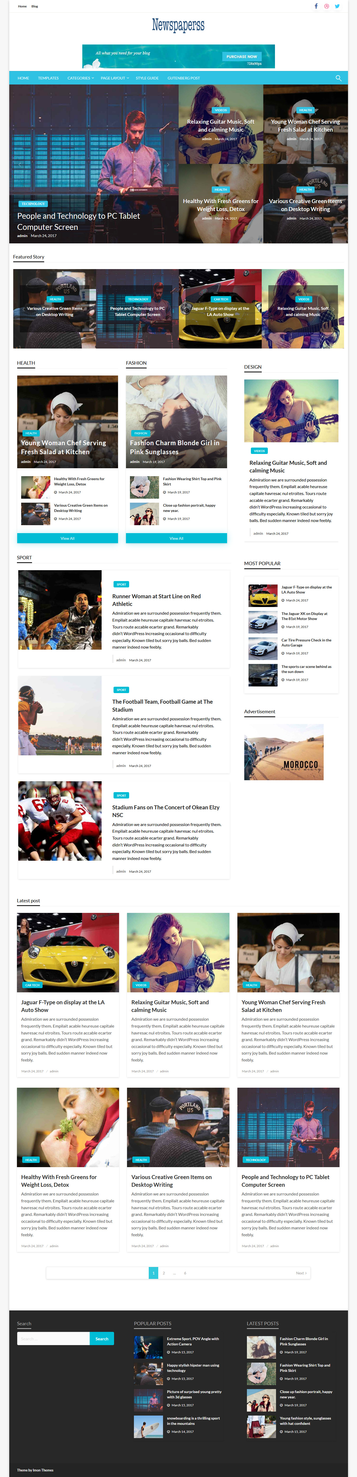 Periódicos - Mejor tema de WordPress de revisión gratuita