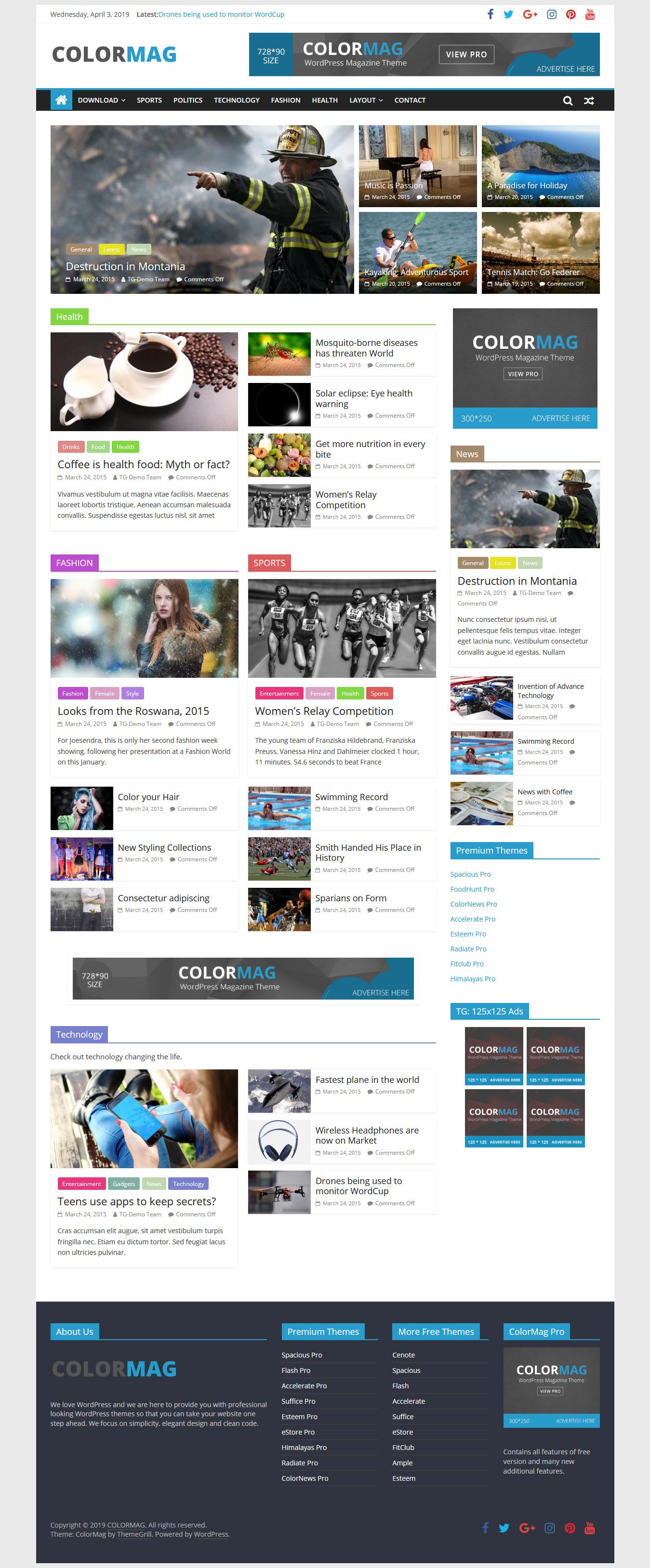 ColorMag - Mejor tema de WordPress de revisión gratuita