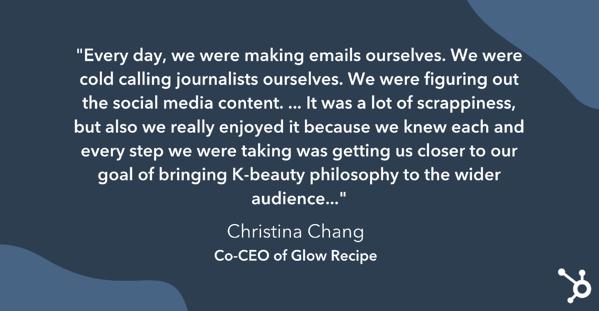 christina chang habla sobre los primeros días de Glow Recipe como startup